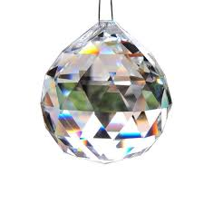 clear 40mm faceted glass crystal ball prism chandelier crystal parts hanging