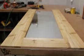 diy wood framed mirror the wood grain
