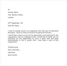 resignation letter format sample resignation letter sample 2016
