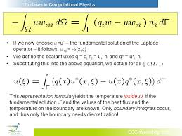 if we now choose w u the fundamental solution of the laplace operator