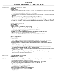 Sample Resume For Office Staff Office Supervisor Resume Samples Velvet Jobs 32