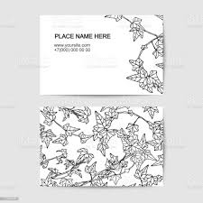 Visit Card Template With Ivy Black And White Stock Illustration - Download  Image Now - iStock