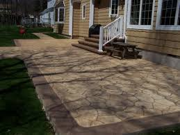 stamped concrete patio with stairs. Contemporary Patio Floor Exquisite Stamped Concrete Patio With Stairs 3  To E