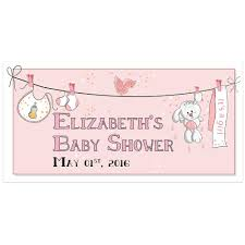 Baby Shower Banner Custom Baby Shower Banner Personalized Baby Shower Backdrop Party