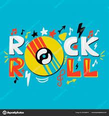 Inspirativní A Motivační Ručně Nakreslený Koncept Rock N Roll