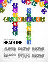 Words CHEMISTRY, SCIENCE, RESEARCH Formed By Symbols Of The ...