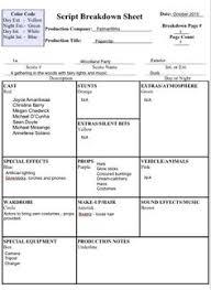 script breakdown sheet how to do a script breakdown short film films and screenwriting