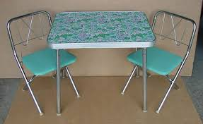 gorgeous childrens folding table and chair set very vtg kitchen tableschairskid39s on formica table