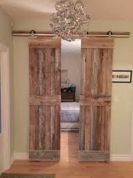 these doors opens up to the guest bedroom they are sliding on the t slide barn door hardware
