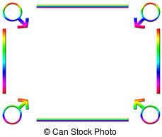 Rainbow Page Border Background Rainbow Coloured Love Hearts And