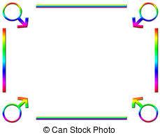 Rainbow Page Border Rainbow Page Border Background Rainbow Coloured Love Hearts And