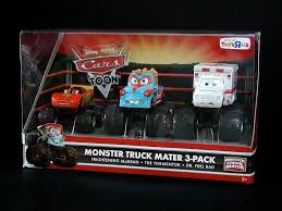 mattel cars toons monster truck mater 3-pack box front (to… | Flickr