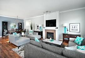 accent colors for gray blue grey color scheme in family room contemporary with chairs aqua accent