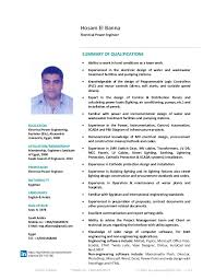 Electrical Engineering Cv Magdalene Project Org