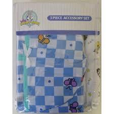 baby looney tunes 3 piece garden party accessory set crib skirt flannel receiving blanket
