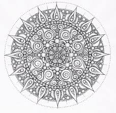 Small Picture Adult Coloring Page Free Printable Mandala Pages For Inside Adults