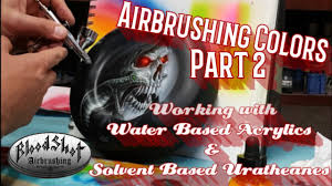Airbrushing Tips For Beginners 6 5 Adding Colors And Mixing Paint Types Instructional Video Part 2