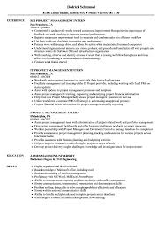 Project Management Intern Resume Samples Velvet Jobs