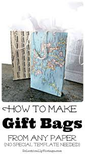 how to make gift bags from any paper eclecticallyvinta