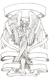 Angel Free Tattoo Stencil Angel Free