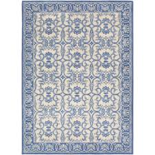 smithsonian rug in bright blue khaki design by bright blue rug uk