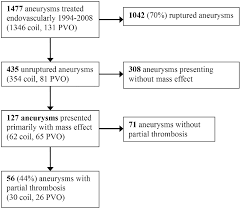 Mass Effect Flow Chart Partially Thrombosed Intracranial Aneurysms Presenting With