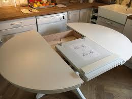 ikea ingatorp white round extendable table