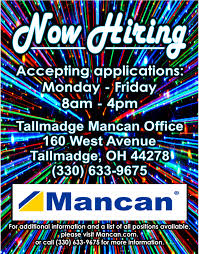 Mancan Has Jobs In Summit County Come In And Apply Industrial