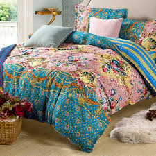 luxury teal pretty fl queen size duvet covers