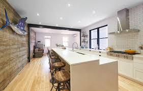 Rénovation Cuisine Moderne Et Industrielle Ilot Et Salon