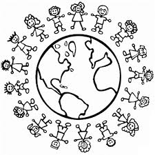 Images universal children's day coloring pages | Pre-K ...