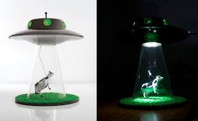 Cow Abduction Lamp