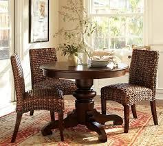 kitchen table tivoli fixed pedestal dining table tuscan chestnut stain potterybarn