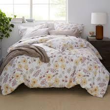 the company larkin fl organic cotton percale twin duvet cover