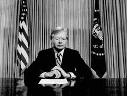 jimmy carter oval office. In This April 25, 1980 File Photo, President Jimmy Carter Prepares To Make A National Television Address From The Oval Office At White House .