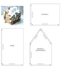 Gingerbread House Templates Printable