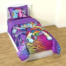 lovely my little pony twin bedding set girl s reversible comforter sham sheet bed queen size