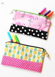 diy zipper pencil pouch a great project to use up ss and easy enough