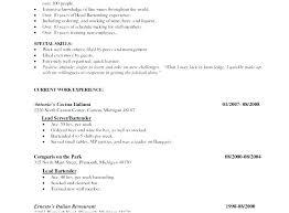 Fine Dining Server Resume Fine Dining Server Resume Luxury Restaurant Server Resume Sample