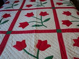 125 best Tulip applique quilts images on Pinterest | Autumn quilts ... & Traditional tulip applique quilt pattern Adamdwight.com