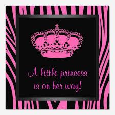 Sweet Pink Zebra Baby Shower Invitations  Baby Shower InvitationsPink Zebra Baby Shower Invitations