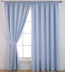 sundour curtains dotty in powder blue 90 x54 3 inch pencil pleat self lined blackout 100 polyester co uk kitchen home