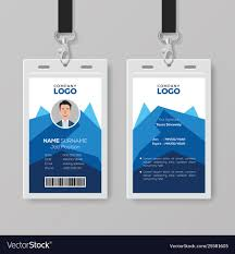 Id Card Templates Free Creative Id Card Template With Abstract Blue