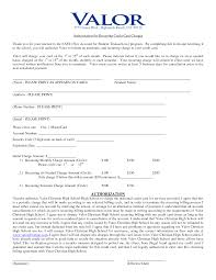 recurring credit card authorization form k k club