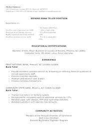 Examples Of Bank Teller Resumes Bank Teller Resume Sample Bank ...