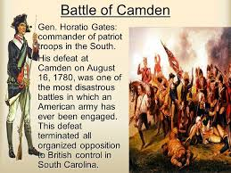 「the Patriots at Camden, South Carolina」の画像検索結果