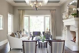 transitional dining room using modern dining set and chandelier for home decoration  ideas