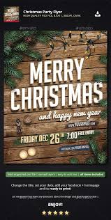 Party Flyer Simple Christmas Party Flyer Photoshop PSD White Christmas Xmas