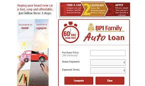 amortization car loan calculator bpi auto loan