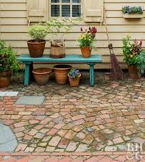 how to build a broken brick patio